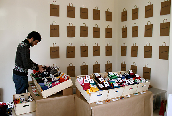 Pop up store Sockaholic para Christmas Market